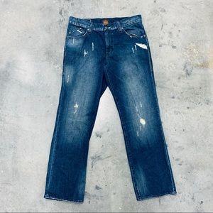 Rock & Republic Distressed Bootcut Jeans 34X30